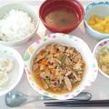 9月27日昼食(豚肉のスタミナ炒め) #病院食