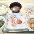 9月27日夕食(赤魚の粕漬け焼き) #病院食