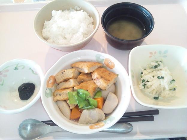 9月29日朝食(がんもの煮物) #病院食