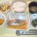 9月29日夕食(めだいの煮付け) #病院食
