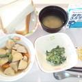 10月1日朝食(イカ団子の煮物) #病院食