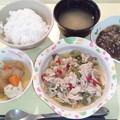 Photos: 10月17日夕食(豚肉とアスパラの炒め物) #病院食