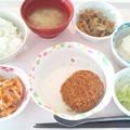 Photos: 10月18日昼食(メンチカツ) #病院食