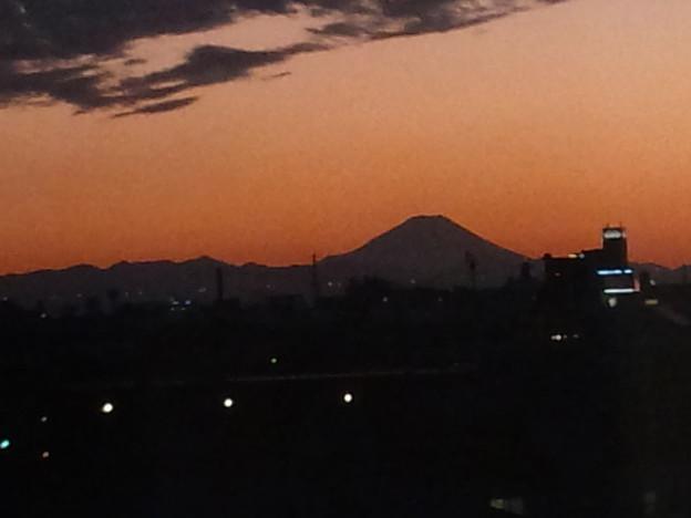 Photos: 10月18日夕暮れの富士山(17時20分) #富士山