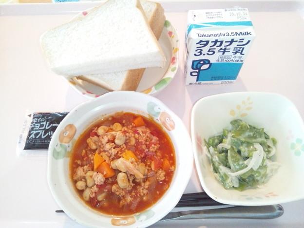Photos: 10月19日朝食(チリコンカン) #病院食