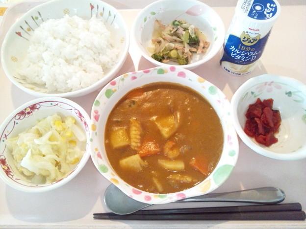 Photos: 10月19日昼食(シーフードカレー) #病院食