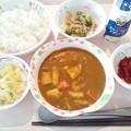10月19日昼食(シーフードカレー) #病院食