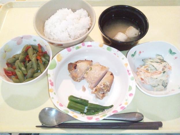10月19日夕食(鶏の塩麹焼き) #病院食