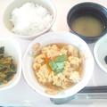Photos: 10月20日朝食(はんぺんの玉子とじ) #病院食