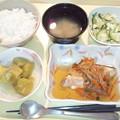 10月20日夕食(鮭の焼き南蛮漬け) #病院食