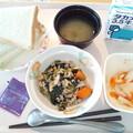 Photos: 10月21日朝食(高野豆腐と青梗菜のそぼろ煮) #病院食