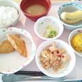 Photos: 10月21日昼食(白身魚フライ) #病院食