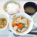 10月25日朝食(野菜つみれの煮物) #病院食