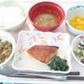 10月25日昼食(めばるの柚子胡椒焼き) #病院食