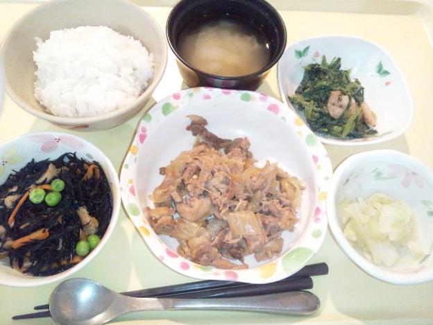 10月25日(豚肉の生姜焼き) #病院食