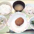 Photos: 10月26日夕食(ハンバーグ) #病院食