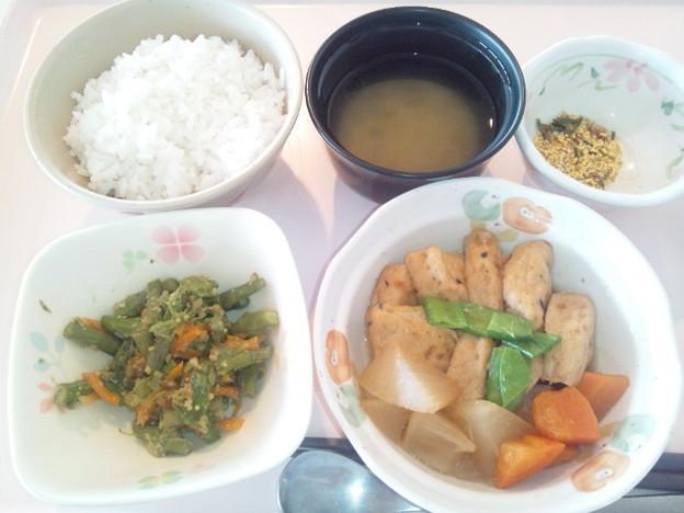 Photos: 10月27日朝食(がんもの煮物) #病院食