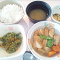 10月27日朝食(がんもの煮物) #病院食
