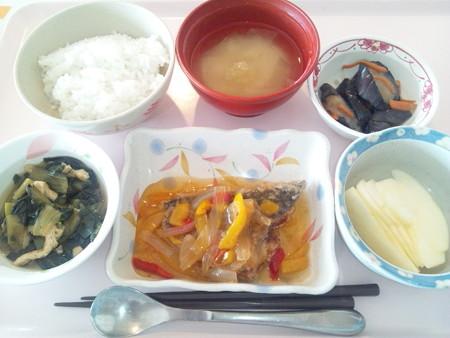 10月27日昼食(鯵の野菜あんかけ) #病院食
