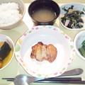 10月27日夕食(鶏肉の照り焼き) #病院食
