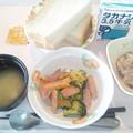 10月28日朝食(魚肉ソーセージ入り野菜炒め) #病院食