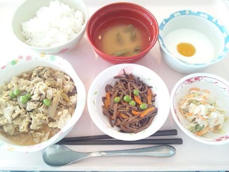 10月29日昼食(豚肉の柳川風) #病院食