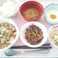 Photos: 10月29日昼食(豚肉の柳川風) #病院食