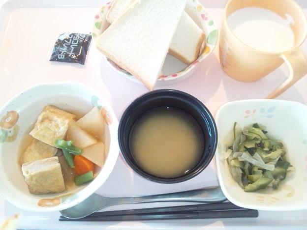 11月23日朝食(肉詰めいなりの煮物) #病院食