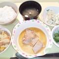 11月24日夕食(鶏肉のソテーガリバタソース) #病院食