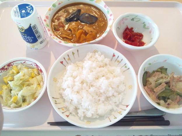 11月25日昼食(南瓜ときのこのカレー) #病院食