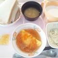 11月26日朝食(オムレツ野菜あんかけ) #病院食