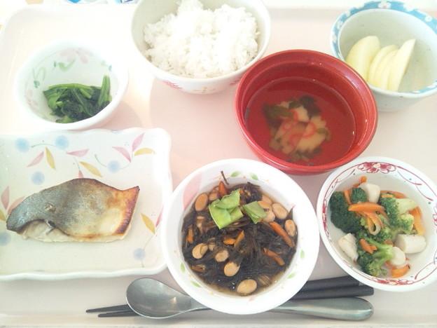 11月26日昼食(めだいの味噌焼き) #病院食