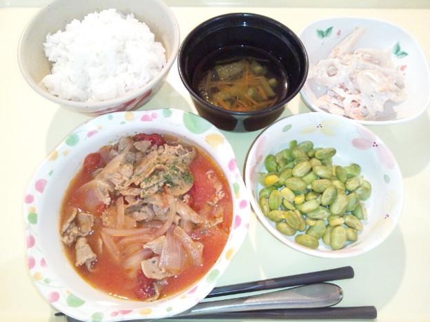 11月26日夕食(牛肉のトマト煮) #病院食