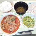 Photos: 11月26日夕食(牛肉のトマト煮) #病院食