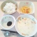 Photos: 11月27日朝食(シーフードチャウダー) #病院食