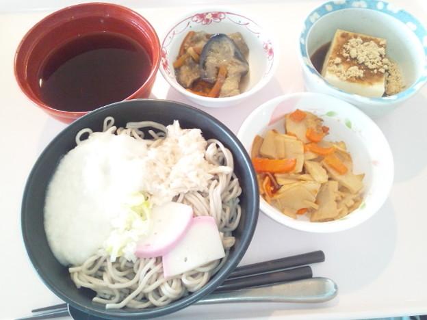 11月27日昼食(とろろそば) #病院食