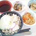 Photos: 11月27日昼食(とろろそば) #病院食