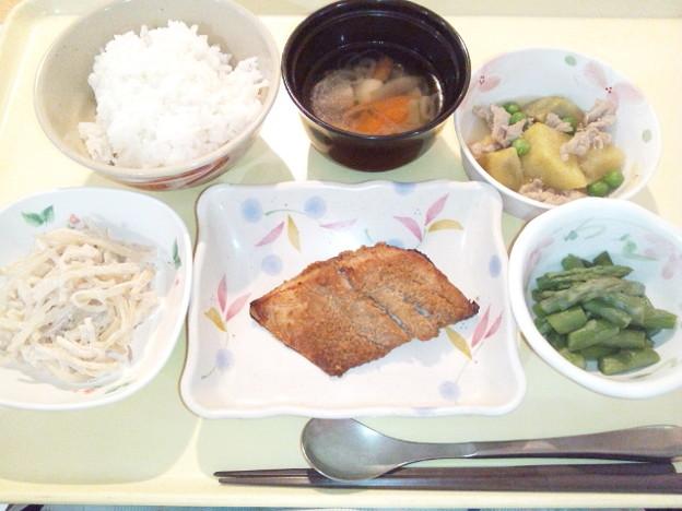 11月27日夕食(鯵の南部焼き) #病院食