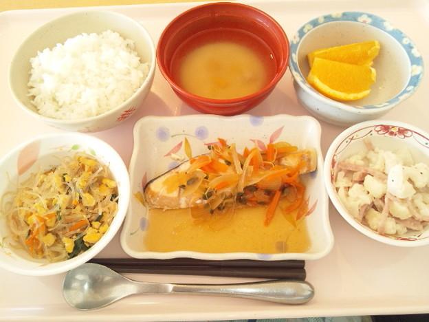 11月28日昼食(鮭の焼き南蛮漬け) #病院食