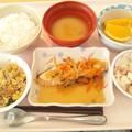 Photos: 11月28日昼食(鮭の焼き南蛮漬け) #病院食