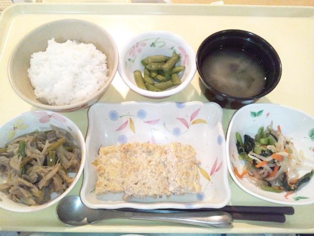 Photos: 11月28日夕食(松風焼き) #病院食