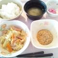 Photos: 11月29日朝食(魚肉ソーセージ入り野菜炒め) #病院食