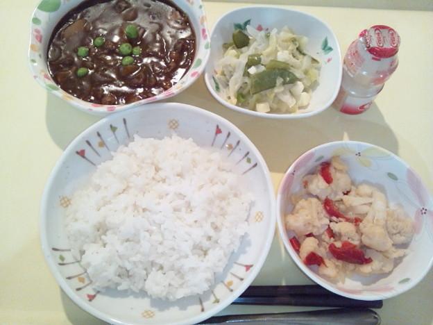 11月29日夕食(ビーフハヤシライス) #病院食