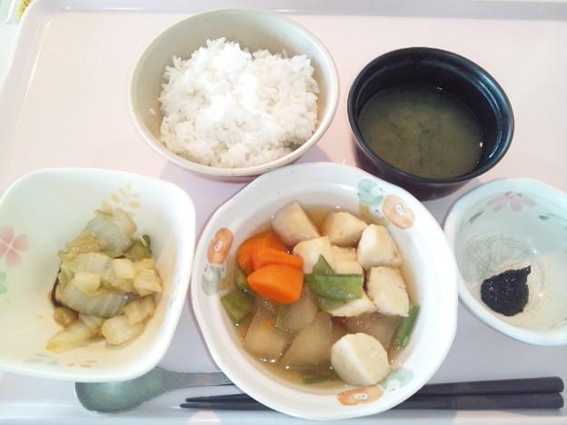 12月1日朝食(イカ団子の煮物) #病院食