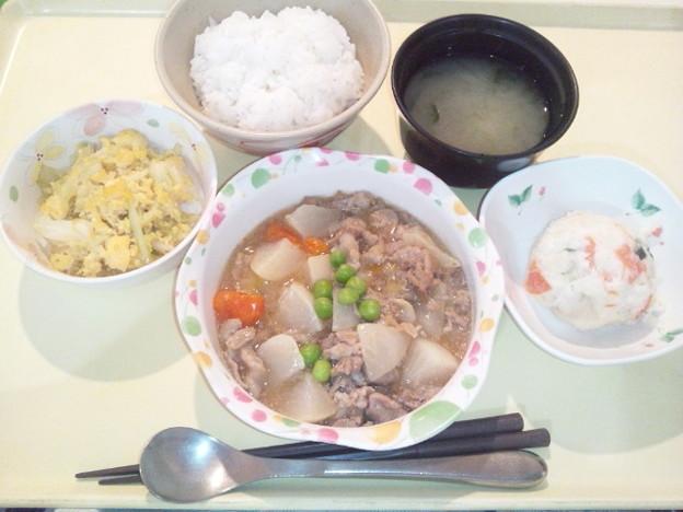 12月1日夕食(豚肉とかぶのやわらか煮) #病院食