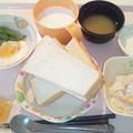 Photos: 12月3日朝食(目玉焼き) #病院食