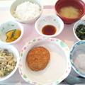 Photos: 12月3日昼食(メンチカツ) #病院食