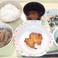 12月3日夕食(鶏肉の味噌焼き) #病院食
