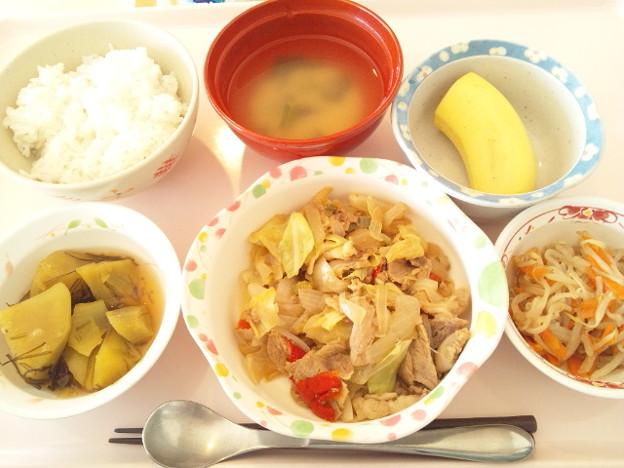 12月4日昼食(肉野菜炒め) #病院食