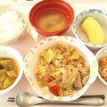 Photos: 12月4日昼食(肉野菜炒め) #病院食
